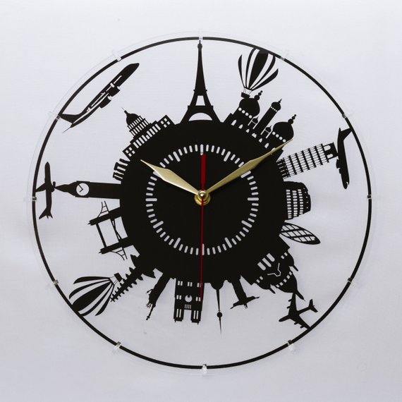 Laser Cut Clock Laser Cut on Acrylic